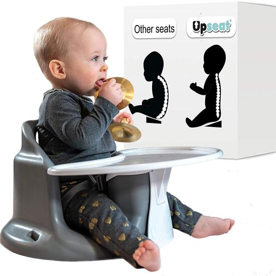 Upseat Baby Chair Booster Seat with Tray for Upright Posture and Healthy Hips, Grey $99.99 MSRP