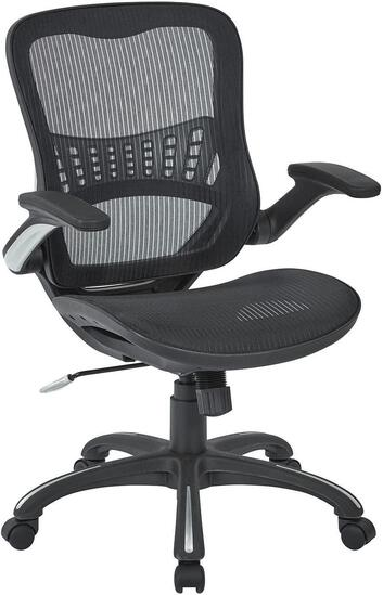 Office Star Mesh Back and Seat, 2-to-1 Synchro and Lumbar Support Managers Chair, Black $167.69 MSRP