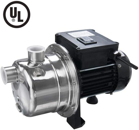 LANCHEZ 1/2 HP Shallow Well Jet Pump Stainless Steel Water Pump Transfer Removal $84.95 MSRP