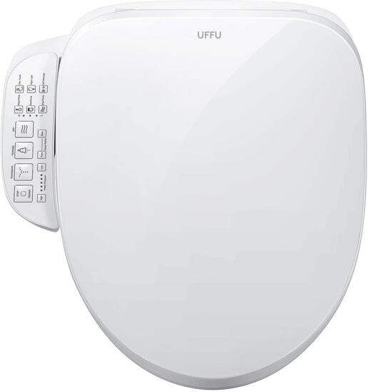 UFFU C200e Bidet Electric Toilet Seat with Control Panel,Smart Heated Elongated Toilet $238.00 MSRP