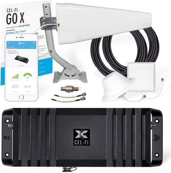Cel-Fi GO X | The Only 100 dB Single-Carrier Cell Phone Signal Booster w/1 Antenna Kit $999.99 MSRP