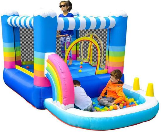 Doctor Dolphin Inflatable Bounce House Jumping Castle Water Slide for Kids $239.99 MSRP