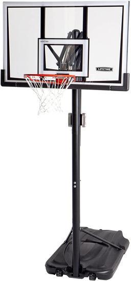 Lifetime 90061 Portable Basketball System, 52 Inch Shatterproof Backboard, Black, $377.48