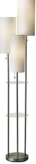 Adesso 4305-22 Trio Floor Lamp, 68.00 x 14.00 x 11.70 inches, Brushed Steel - $123.00 MSRP