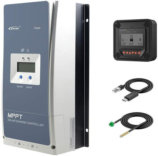 EPEVER MPPT Solar Charge Controller 80A Negative Ground 200V PV Solar Panel Charger - $369.00 MSRP