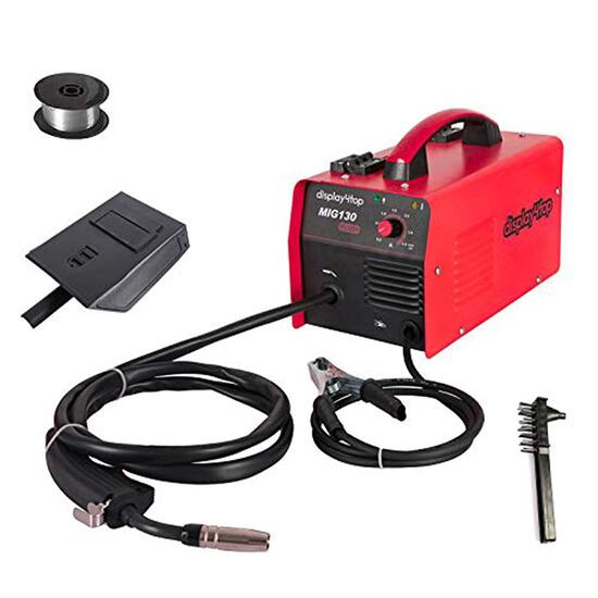 Display4top Portable No Gas MIG 130 Plus Welder Flux Core Wire Automatic Feed - $129.99 MSRP