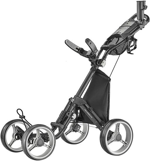 ...CaddyTek Explorer V8 - SuperLite 4 Wheel Golf Push Cart, Explorer Version 8, $288.94