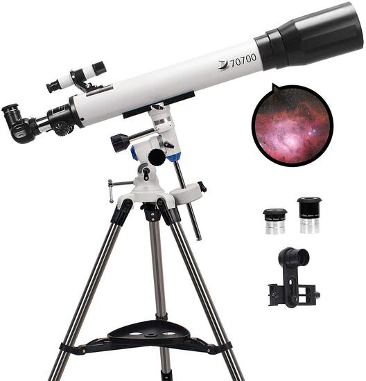 Telescopes for Adults, 70mm Aperture and 700mm Focal Length Professional Astronomy - $249.99 MSRP