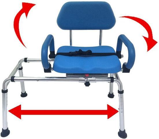 Platinum Health Carousel Sliding Transfer Bench with Swivel Seat (PHB3300) - $298.00 MSRP