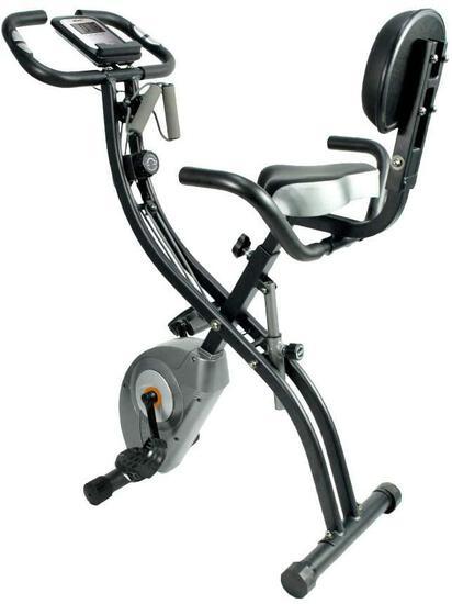 ATIVAFIT Stationary Exercise Bike Magnetic Upright Bike Monitor with Phone Holder, High Backrest