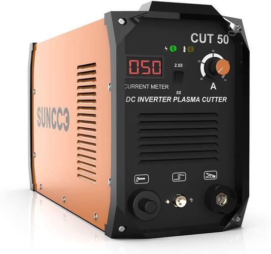SUNCOO 50 Amp Plasma Cutter 110/220V, Portable Pro - $269.99 MSRP