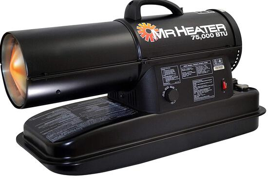 Mr. Heater MH75KTR Kerosene Heater, Black