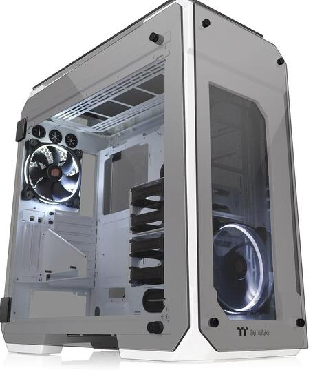 Thermaltake View 71 Snow 4-Sided Tempered Glass Vertical GPU Modular SPCC E-ATX Gaming Full Tower