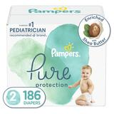 Pampers Pure Protection Natural Diapers, Size 2, 186 Ct - $58.49 MSRP