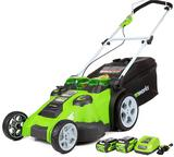 Greenworks 40V 20 Inch Cordless Twin Force Lawn Mower, 4Ah and 2Ah Batteries with Charger Included