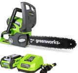 Greenworks 40V 12-Inch Cordless Chainsaw, 2.0 AH Battery and Charger Included, 20262 - $179.99 MSRP