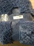 Fluffy Area Rug/Carpet, Blue