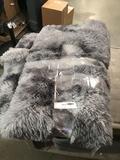 Grey Shags Rug