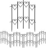Amagabeli Decorative Garden Fence 27inx9ft Outdoor Coated Rustproof Metal Garden Fencing $62.99 MSRP