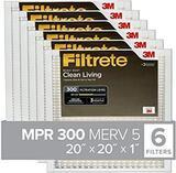 Filtrete BD02-6PK-1E Air Filter, 20 in. x 20 in. x 1 in, White