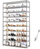 HODYANN 10-Tier Shoe Rack, Non-woven Fabric Storage Organizer - $28.99 MSRP