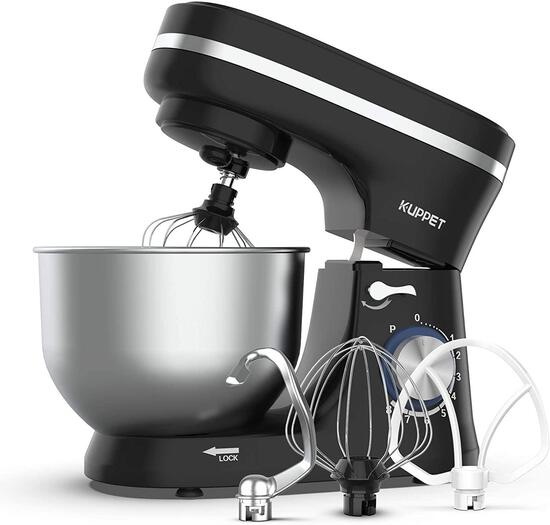 KUPPET Stand Mixer, 8-Speed Tilt-Head Electric Food Stand Mixer with Dough Hook, Wire Whip & Beater
