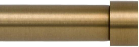 Ivilon Drapery Window Curtain Rod - End Cap Style Design 1 Inch Pole. 72 to 144 Inch Color Warm Gold