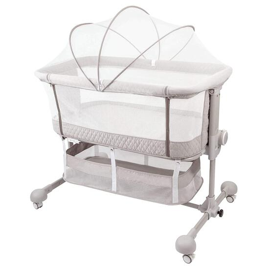 HAHASOLE Bedside Sleeper Baby Bed Cribs, Bassinet for Newborn Baby, Adjustable Portable Bed with Mat