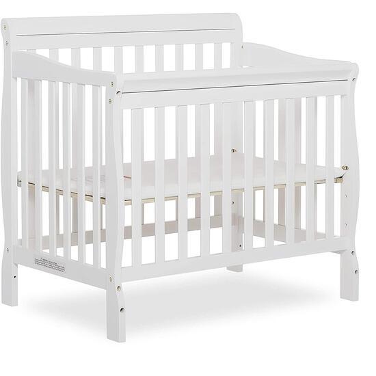 Dream On Me Aden 4-in-1 Convertible Mini Crib in White (628) - $157.92 MSRP