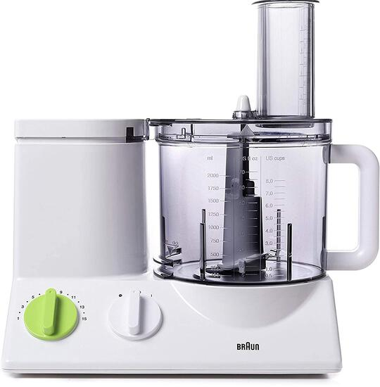 Braun FP3020 12 Cup Food Processor Ultra Quiet Powerful Motor, White - $479.00 MSRP
