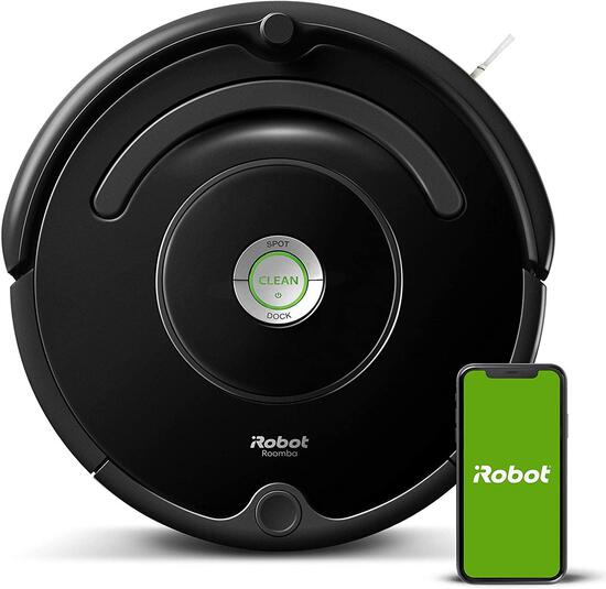 iRobot Roomba 675 Robot Vacuum-Wi-Fi Connectivity, Works with Alexa, Good for Pet Hair, $249.99 MSRP