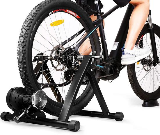 INTEY Bike Trainer Stand Magnetic Bicycle Indoor Exercise Training - $94.99 MSRP