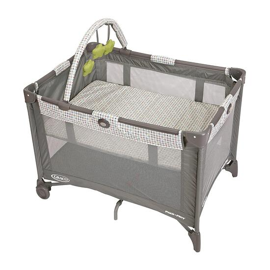 Graco Pack And Play On The Go Playard, Includes Full-Size Infant Bassinet, Push Button- $74.99 MSRP