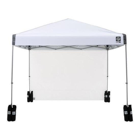 E-Z UP Regency 10'x10' Straight-Leg Canopy with Wall and Weight Bags, White $189.99 MSRP
