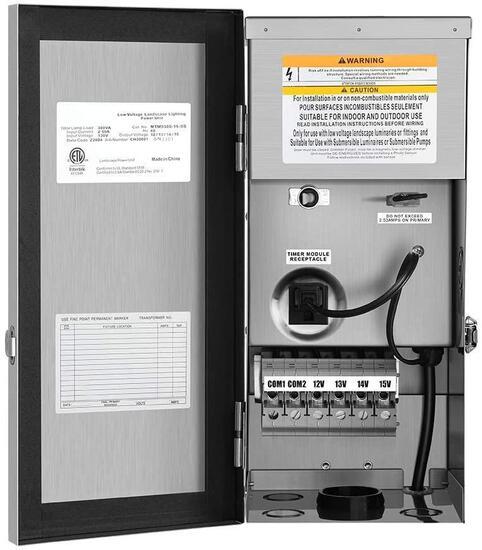 Dewenwils 300W Multi-Tap Low Voltage Transformer 300.0 Watts - $152.99 MSRP