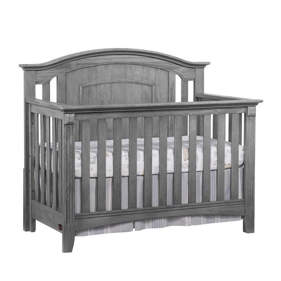 Oxford Baby Willowbrook 4-IN-1 Convertible Crib, Graphite Gray - $303.33 MSRP