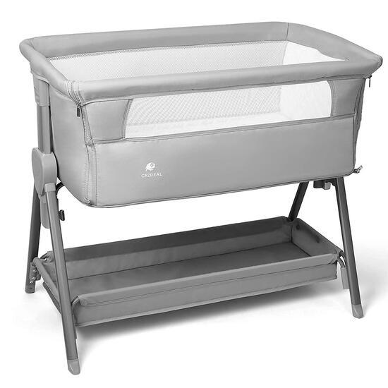 CRZDEAL Bassinet for Babies Large Volume and Mobile with Storage Basket Bedside... $139.99 MSRP