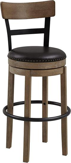 Ball and Cast Swivel Pub Height Barstool 29 Inch Seat Height Light Brown Set of 1 - $119.00 MSRP