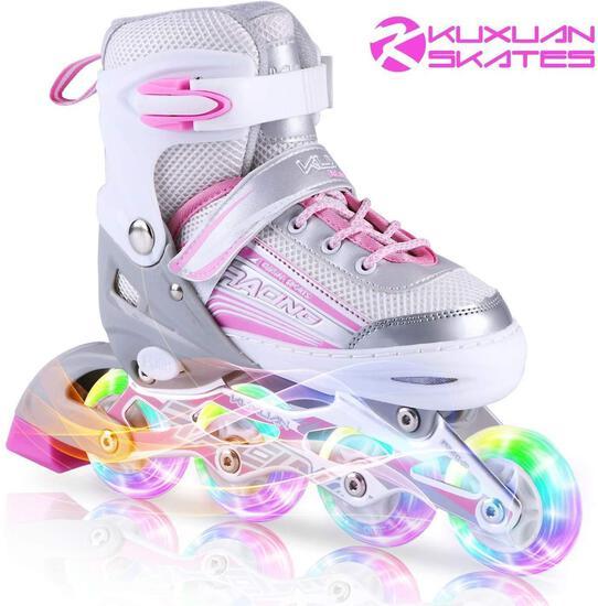 Kuxuan Inline Skates Adjustable for Kids, Girls Skates with All Wheels Light up... $54.99 MSRP