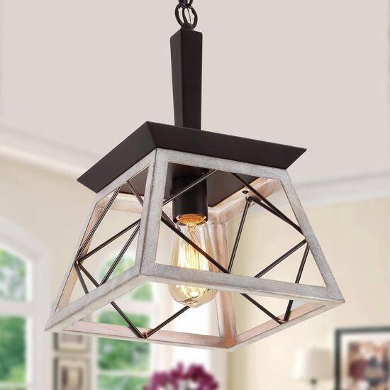 Q and S Farmhouse Pendant Light Fixture, Vintage Pendant Light Chandelier...$72.99 MSRP