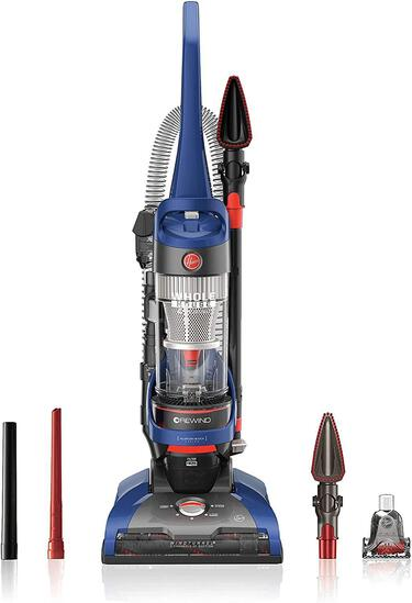 Hoover WindTunnel 2 Whole House Rewind Corded Bagless Upright Vacuum Cleaner-Blue - $151.00 MSRP