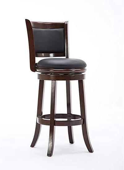 Boraam Augusta Bar Height Swivel Stool, 29-Inch, Cappuccino - $103.18 MSRP