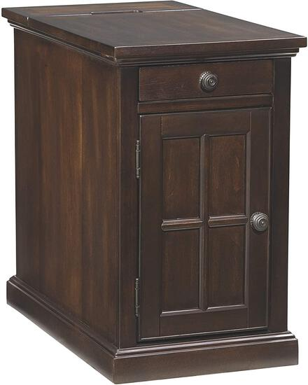 Ashley Laflorn Chairside End Table with USB Ports and Outlets - Almost Black T127-668 - $364.99 MSRP