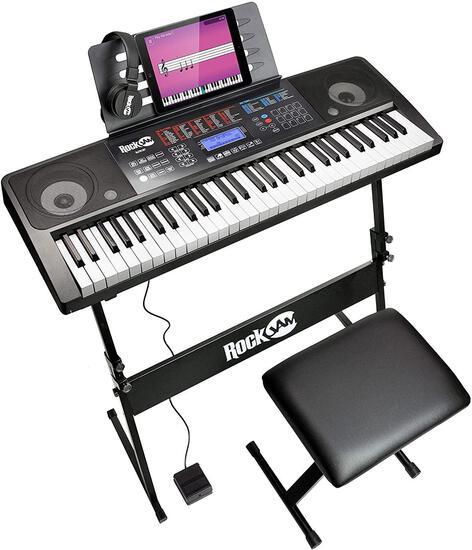 RockJam 61 Key Keyboard Piano With Touch Display Kit (RJ761-SK) (B06XBZH1DZ) - $149.99 MSRP