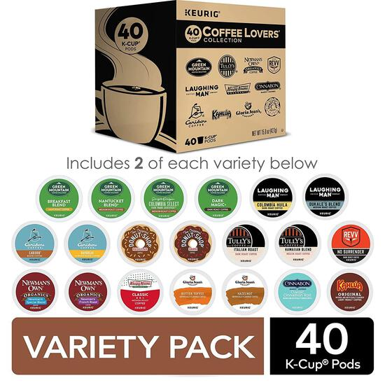 Keurig Coffee Lovers' Collection Variety Pack, Single-Serve Coffee K-Cup Pods, 40 Count $25.49 MSRP