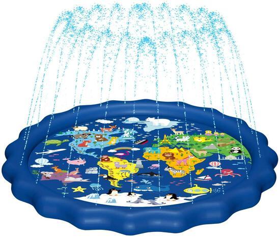 Magifire Splash Pad,Sprinkler for Kids and Baby Pool (Map) - $16.99 MSRP