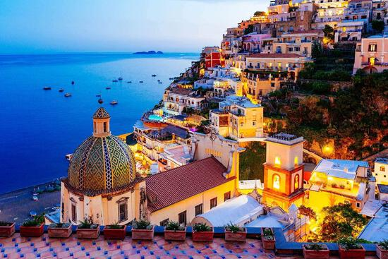 Chafin Jigsaw Puzzle 1000 Piece - Dreamy Positano - Sign. Collect. Twilight Sea Sight - $12.70 MSRP