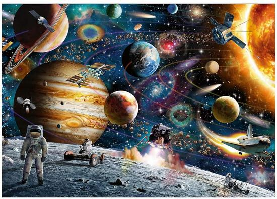 Jigsaw Puzzles, Gift Wrapped 1000 Pieces Space Traveler