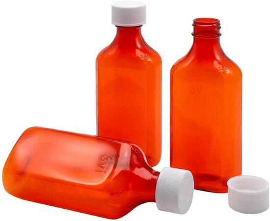 Ezy Dose Liquid Medicine Bottles | 6 Oz Storage | Child-Resistant Cap