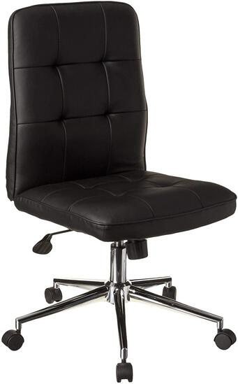 Boss Office Products Millennial Modern Home Office Chair without Arms in Black (B330A-BK)